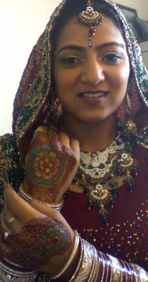 Indian Bride with Henna Designs