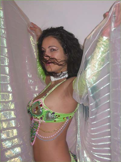 Ina, Belly Dancer in San Diego, California, available for parties, performs with wings