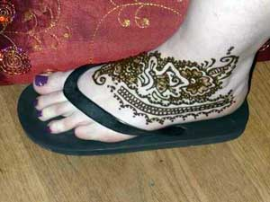 Temporary Tattoo in Henna