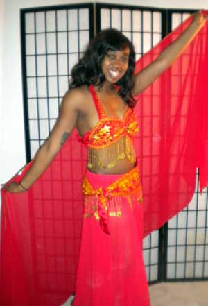 Kiersten in Red Bellydance Costume
