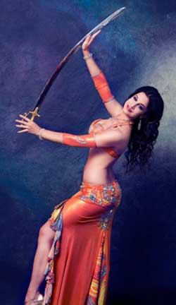 Shaunti with Sword Balancing Bellydance Performance
